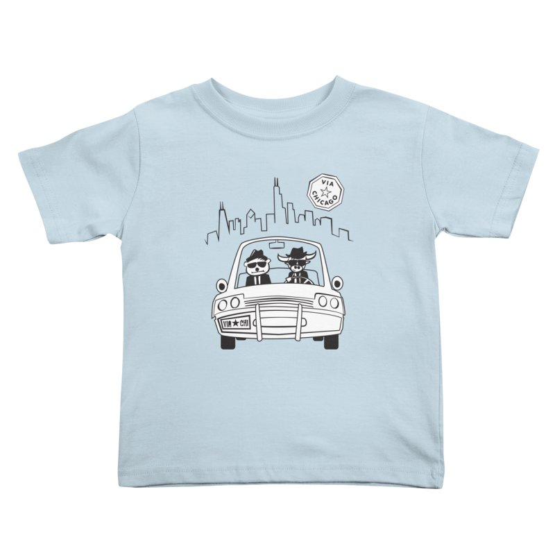 Via Blues Bros Kids Toddler T-Shirt by Via Chicago's March Shop