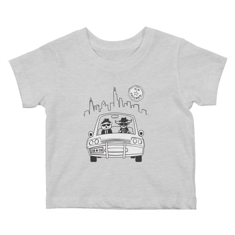 Via Blues Bros Kids Baby T-Shirt by Via Chicago's March Shop