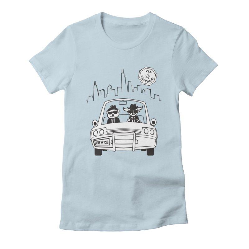Via Blues Bros Women's T-Shirt by Via Chicago's March Shop