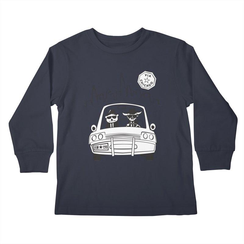 Via Blues Bros Kids Longsleeve T-Shirt by Via Chicago's March Shop