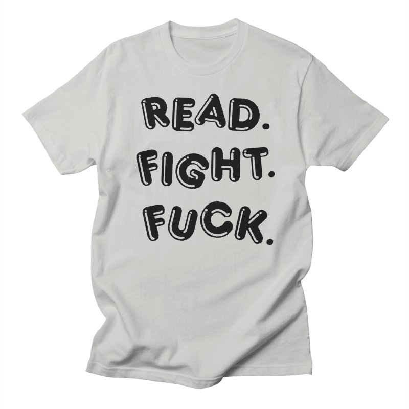 Read Fight Fuck in Men's Regular T-Shirt Stone by Vice Versa Press