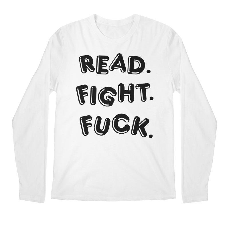 Read Fight Fuck Men's Regular Longsleeve T-Shirt by Vice Versa Press
