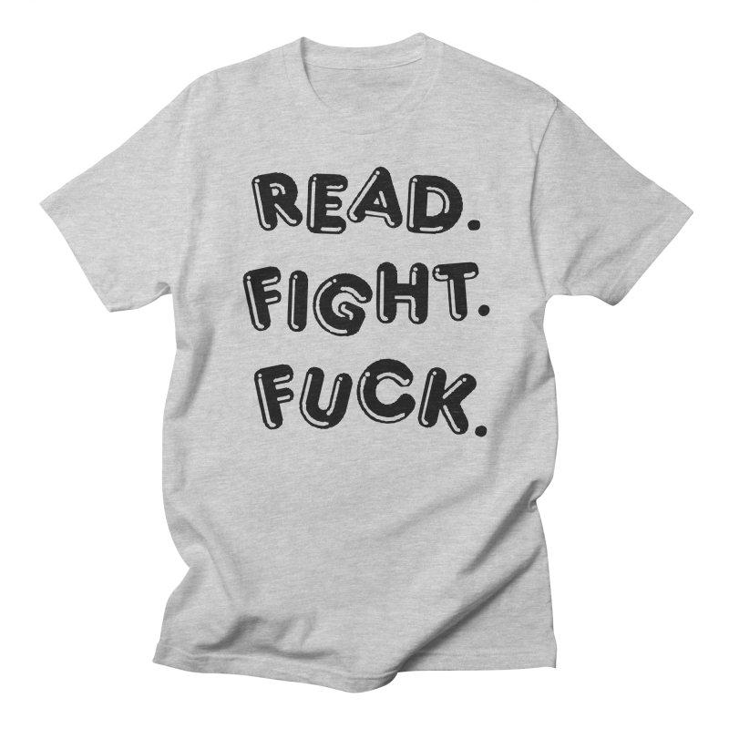 Read Fight Fuck Men's Regular T-Shirt by Vice Versa Press