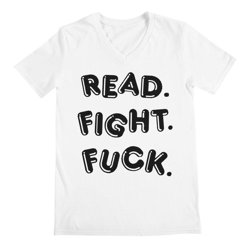 Read Fight Fuck Men's V-Neck by Vice Versa Press