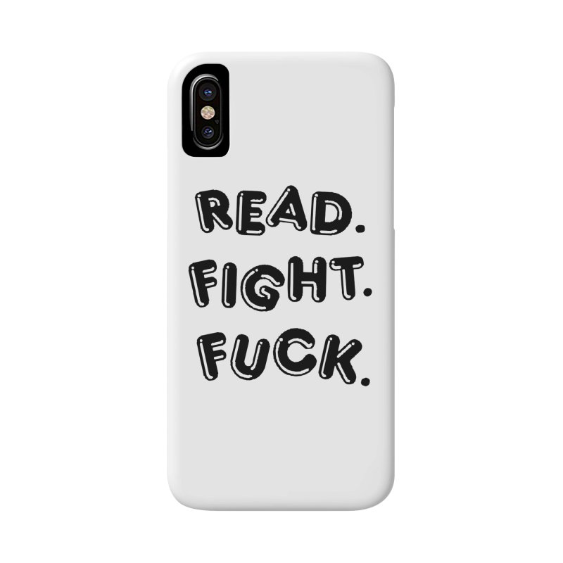 Read Fight Fuck in iPhone X Phone Case Slim by Vice Versa Press