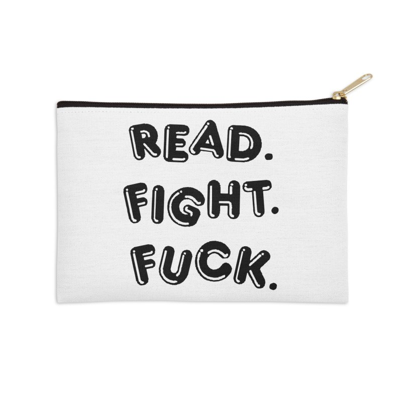 Read Fight Fuck Accessories Zip Pouch by Vice Versa Press