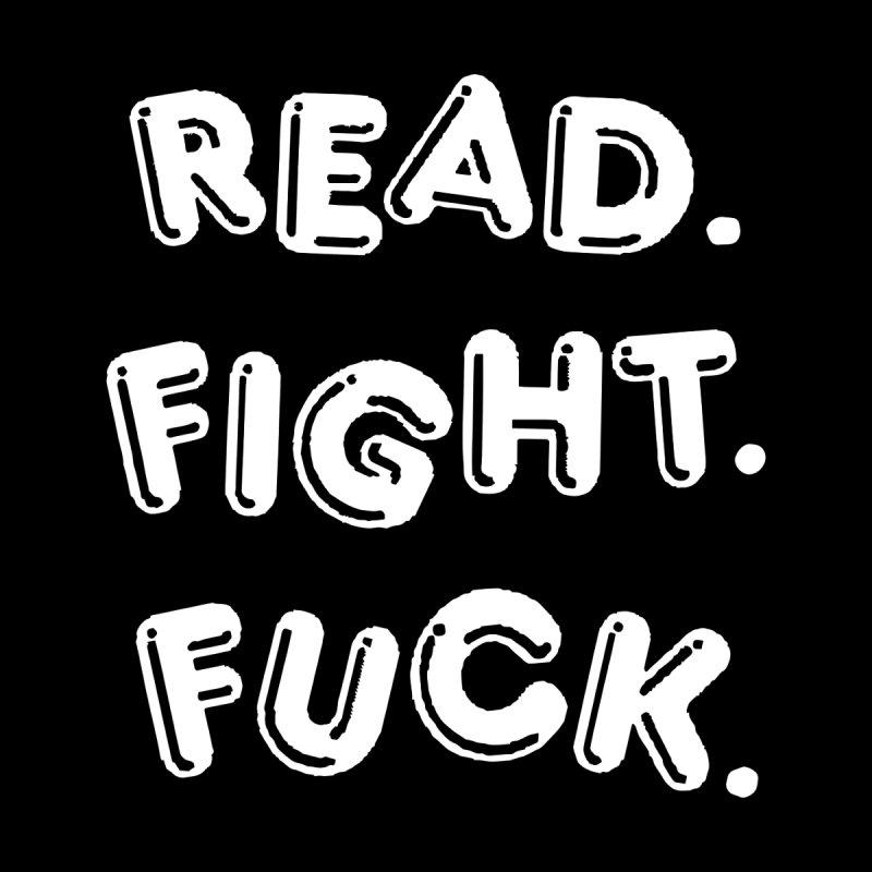 Read Fight Fuck (white) Men's Heavyweight T-Shirt by Vice Versa Press