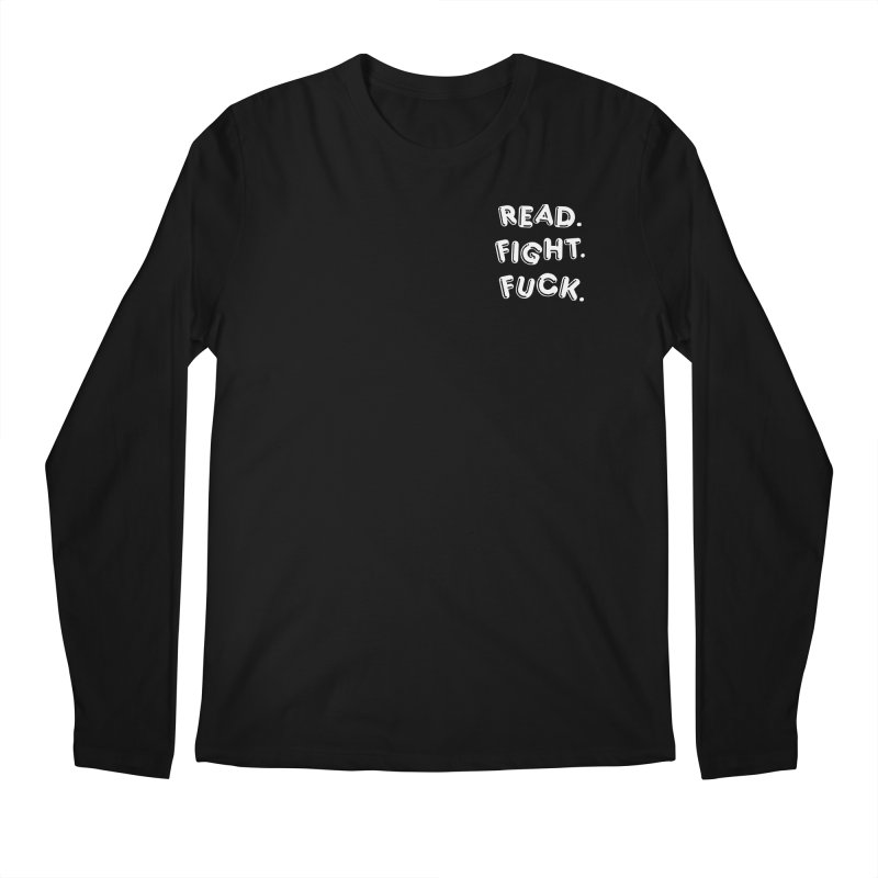 Read Fight Fuck (white) Men's Longsleeve T-Shirt by Vice Versa Press