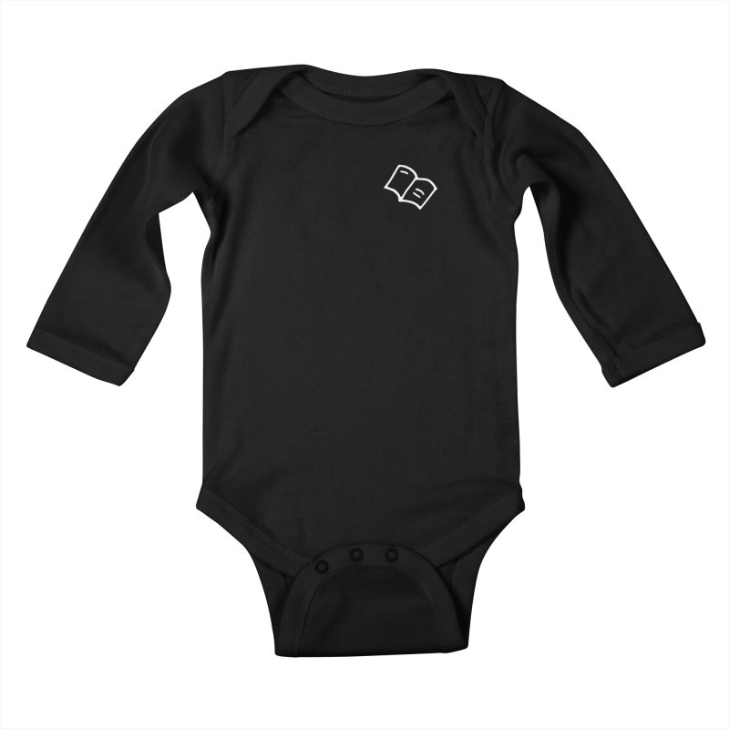 Leyendo (white) Kids Baby Longsleeve Bodysuit by Vice Versa Press