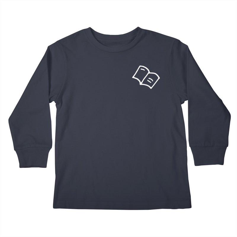 Leyendo (white) Kids Longsleeve T-Shirt by Vice Versa Press