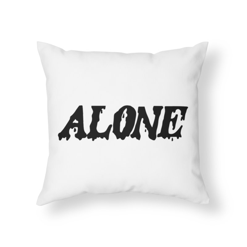 Alone Home Throw Pillow by Vice Versa Press