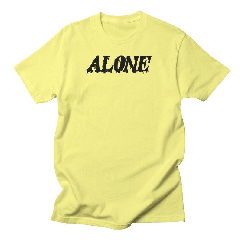 Alone in Men's Regular T-Shirt Lemon by Vice Versa Press