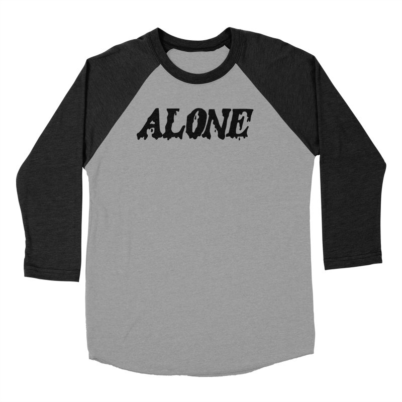 Alone in Women's Baseball Triblend T-Shirt Heather Onyx Sleeves by Vice Versa Press