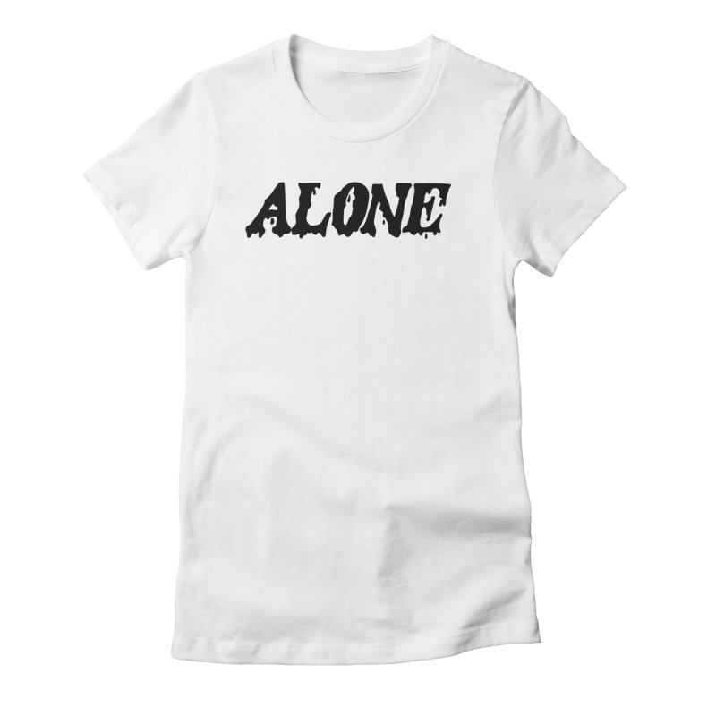 Alone Women's Fitted T-Shirt by Vice Versa Press