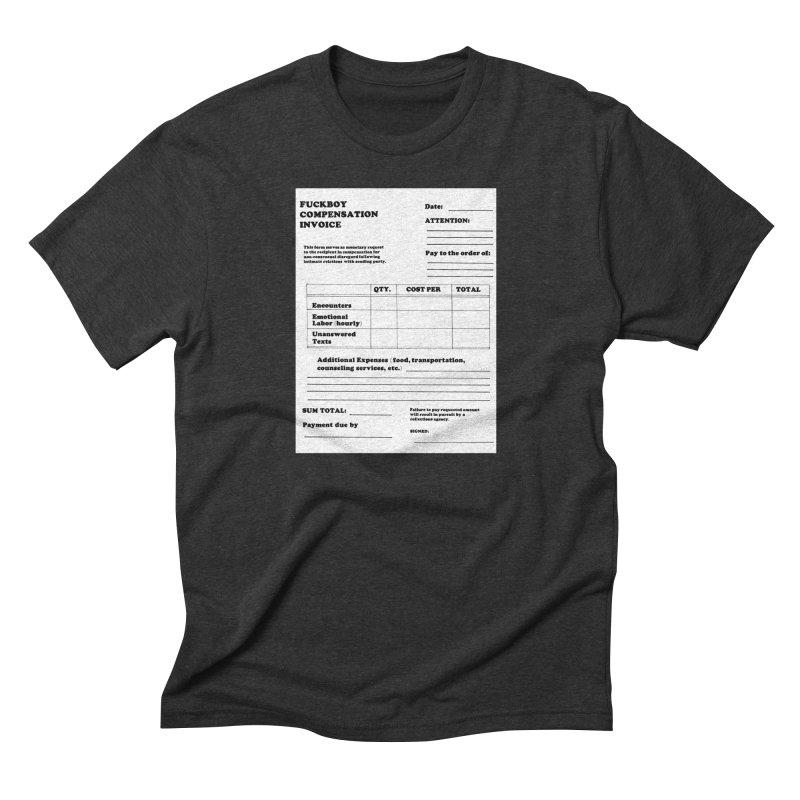 Fuckboy Invoice Men's Triblend T-Shirt by Vice Versa Press