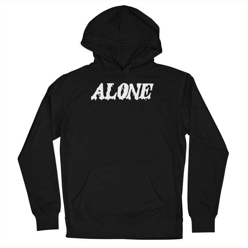 Alone (white) Men's French Terry Pullover Hoody by Vice Versa Press