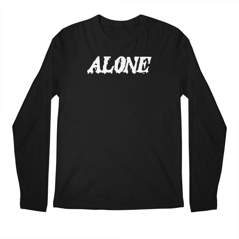 Alone (white) Men's Regular Longsleeve T-Shirt by Vice Versa Press