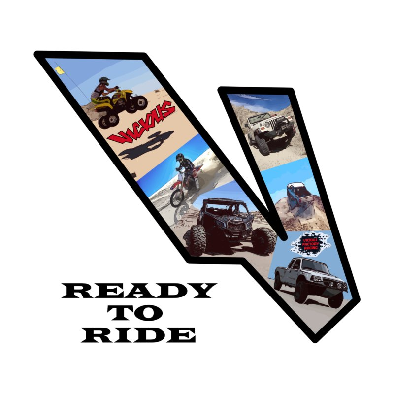 Vicious V OHV Ready to Ride Men's T-Shirt by Vicious Factory