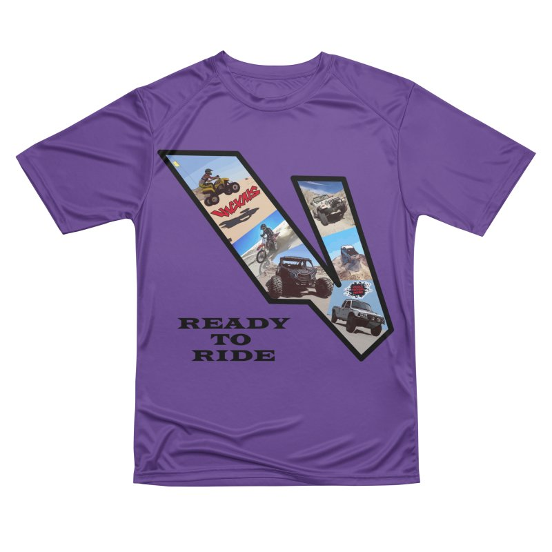 Vicious V OHV Ready to Ride Women's Performance Unisex T-Shirt by Vicious Factory