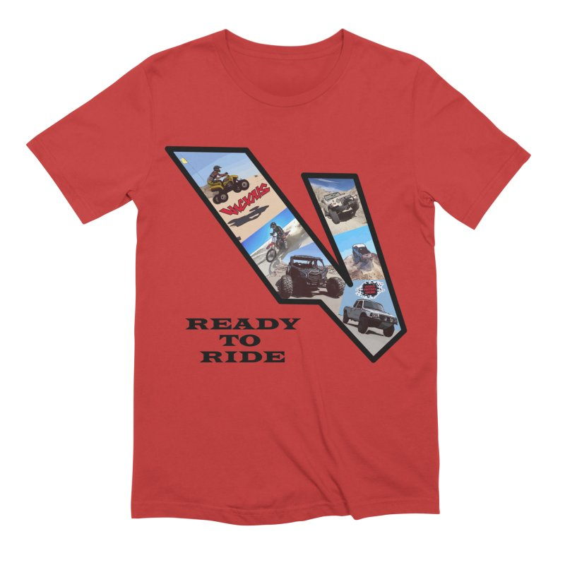 Vicious V OHV Ready to Ride Men's Extra Soft T-Shirt by Vicious Factory