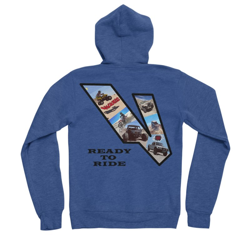 Vicious V OHV Ready to Ride Women's Sponge Fleece Zip-Up Hoody by Vicious Factory