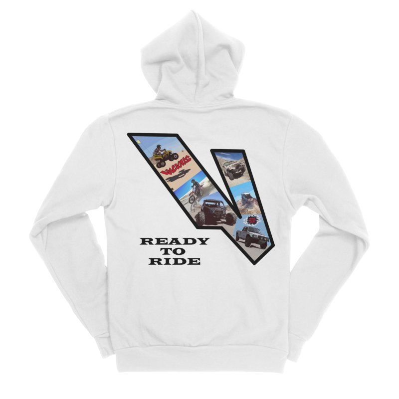 Vicious V OHV Ready to Ride Men's Sponge Fleece Zip-Up Hoody by Vicious Factory