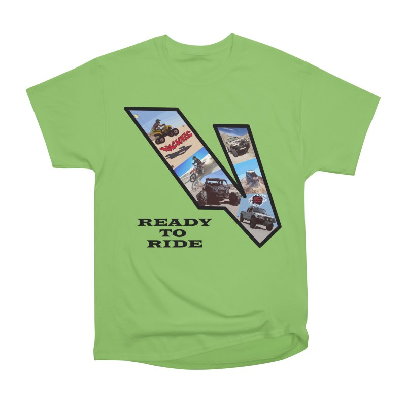 Vicious V OHV Ready to Ride Men's Heavyweight T-Shirt by Vicious Factory