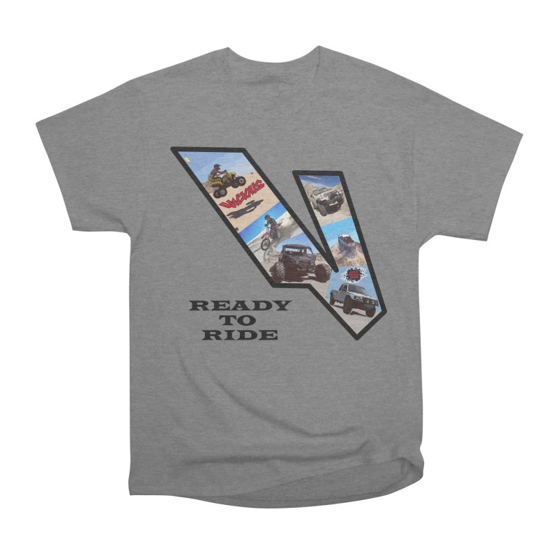 Vicious V OHV Ready to Ride Women's Heavyweight Unisex T-Shirt by Vicious Factory