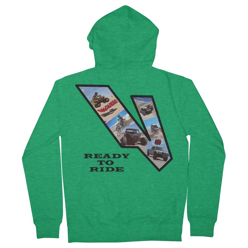 Vicious V OHV Ready to Ride Women's Zip-Up Hoody by Vicious Factory