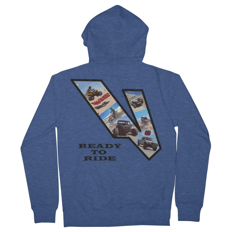 Vicious V OHV Ready to Ride Women's French Terry Zip-Up Hoody by Vicious Factory