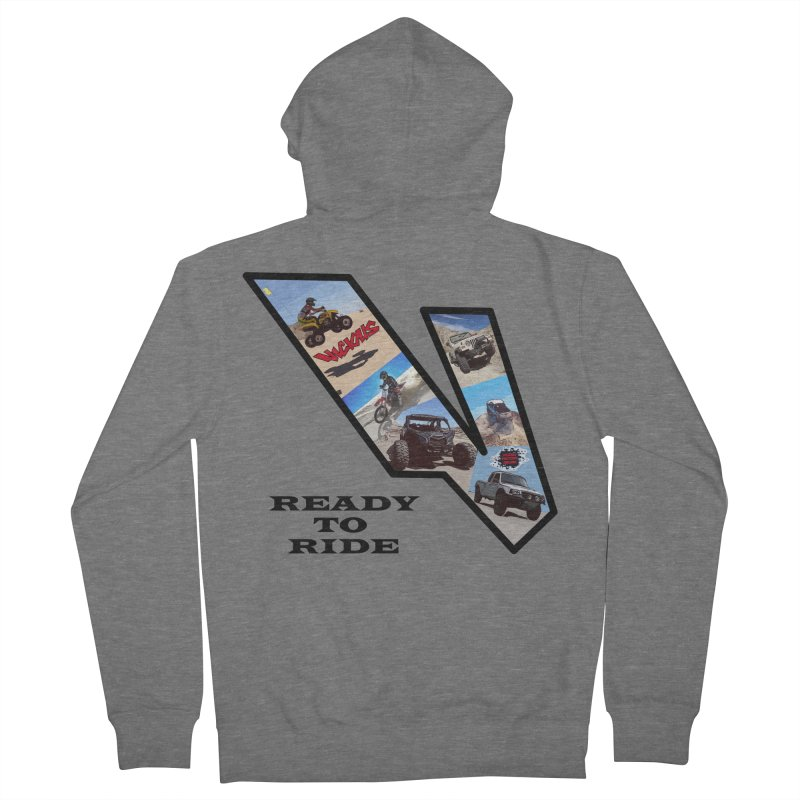 Vicious V OHV Ready to Ride Men's French Terry Zip-Up Hoody by Vicious Factory