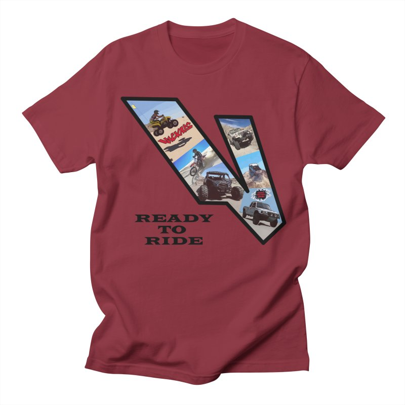 Vicious V OHV Ready to Ride Men's Regular T-Shirt by Vicious Factory