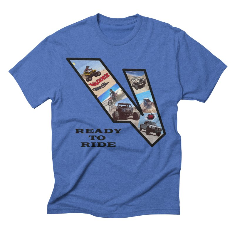 Vicious V OHV Ready to Ride Men's Triblend T-Shirt by Vicious Factory