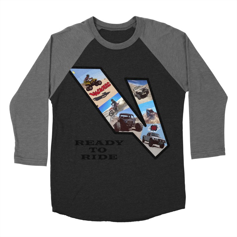 Vicious V OHV Ready to Ride Women's Baseball Triblend Longsleeve T-Shirt by Vicious Factory