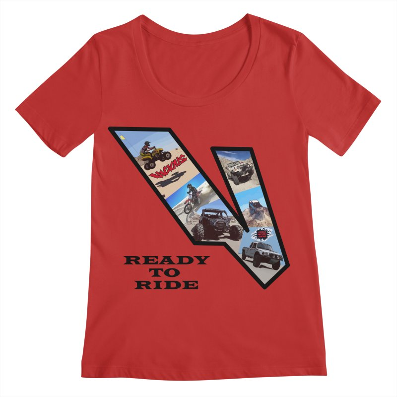 Vicious V OHV Ready to Ride Women's Regular Scoop Neck by Vicious Factory