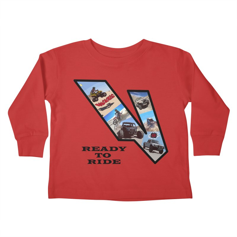 Vicious V OHV Ready to Ride Kids Toddler Longsleeve T-Shirt by Vicious Factory