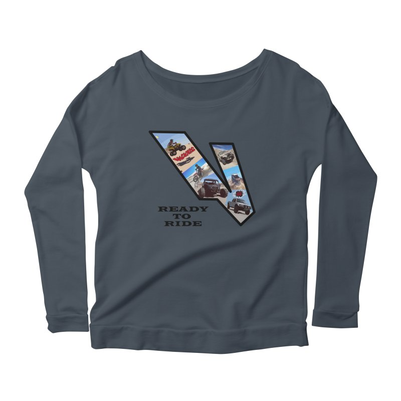 Vicious V OHV Ready to Ride Women's Scoop Neck Longsleeve T-Shirt by Vicious Factory