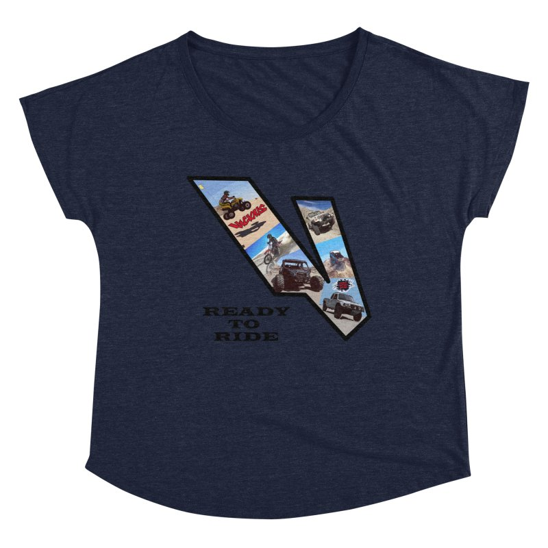 Vicious V OHV Ready to Ride Women's Dolman Scoop Neck by Vicious Factory