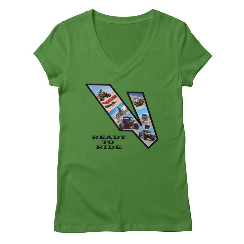 Vicious V OHV Ready to Ride Women's Regular V-Neck by Vicious Factory