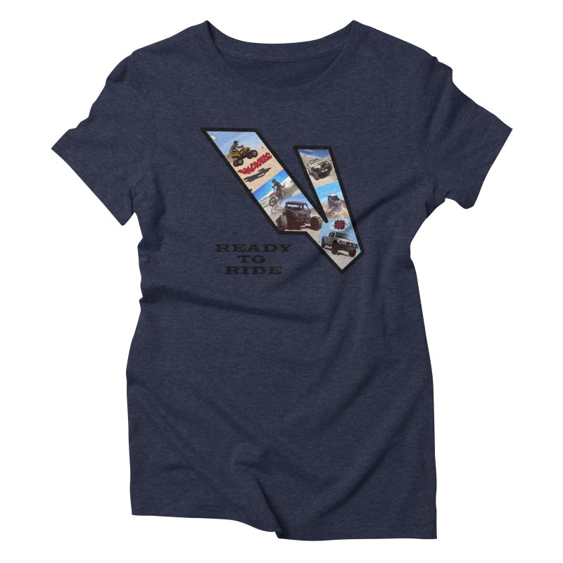 Vicious V OHV Ready to Ride Women's Triblend T-Shirt by Vicious Factory