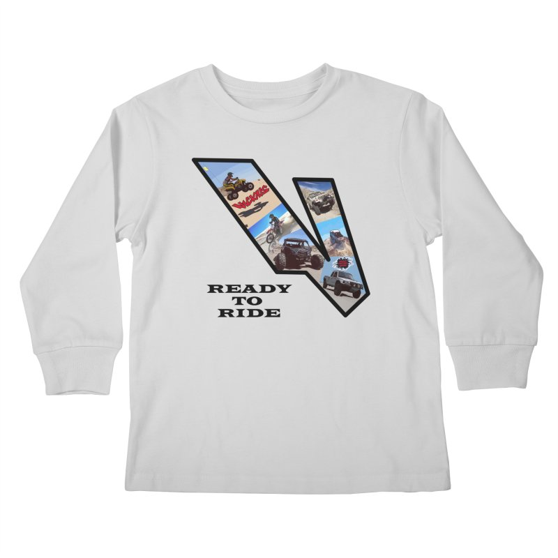 Vicious V OHV Ready to Ride Kids Longsleeve T-Shirt by Vicious Factory