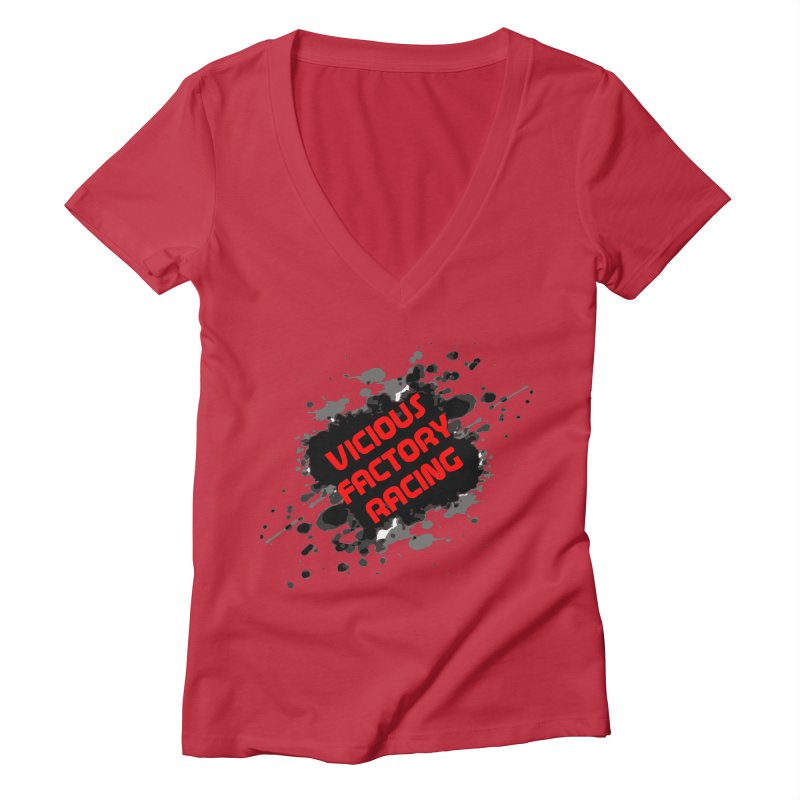 VICIOUS FACTORY RACING Women's Deep V-Neck V-Neck by Vicious Factory