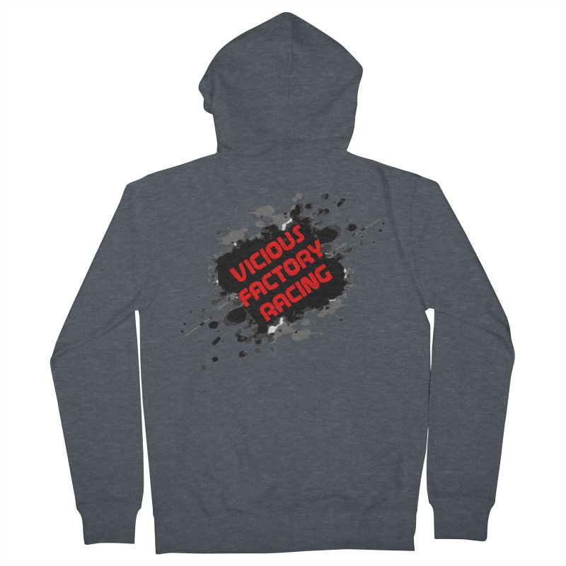 VICIOUS FACTORY RACING Men's French Terry Zip-Up Hoody by Vicious Factory