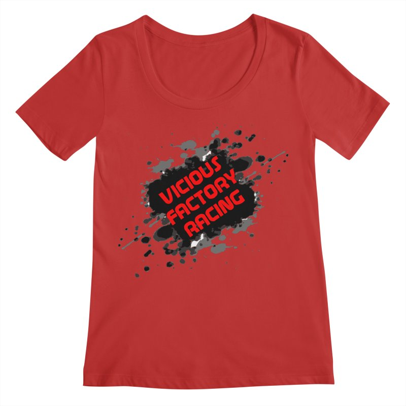 VICIOUS FACTORY RACING Women's Regular Scoop Neck by Vicious Factory