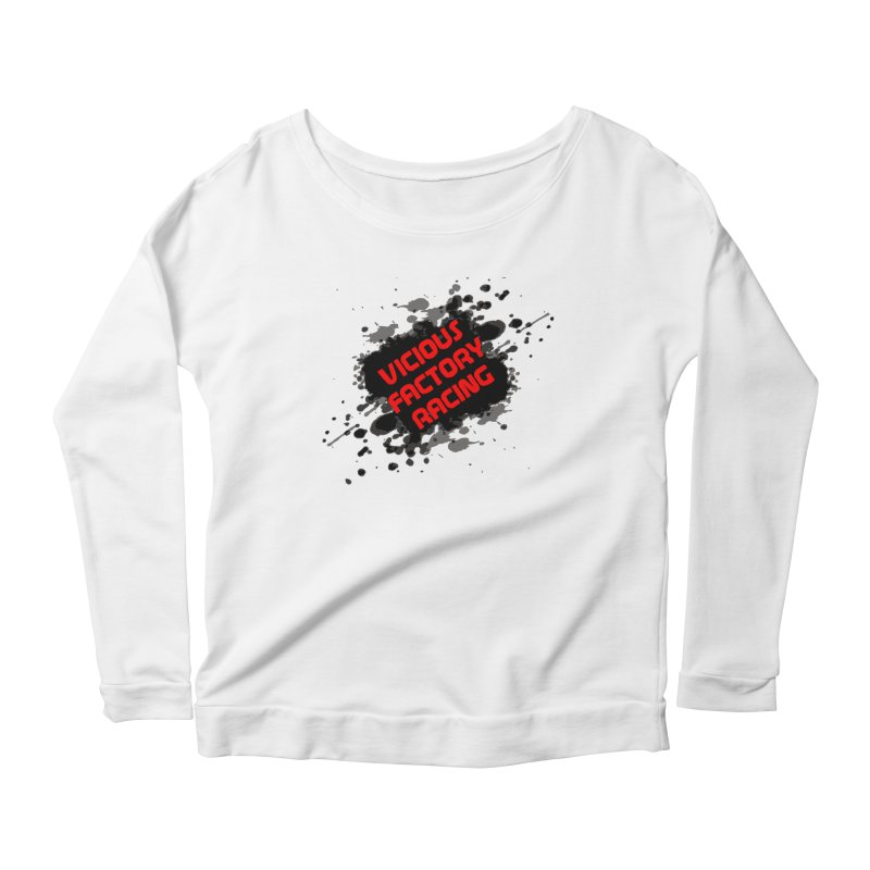 VICIOUS FACTORY RACING Women's Scoop Neck Longsleeve T-Shirt by Vicious Factory
