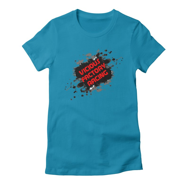 VICIOUS FACTORY RACING Women's Fitted T-Shirt by Vicious Factory