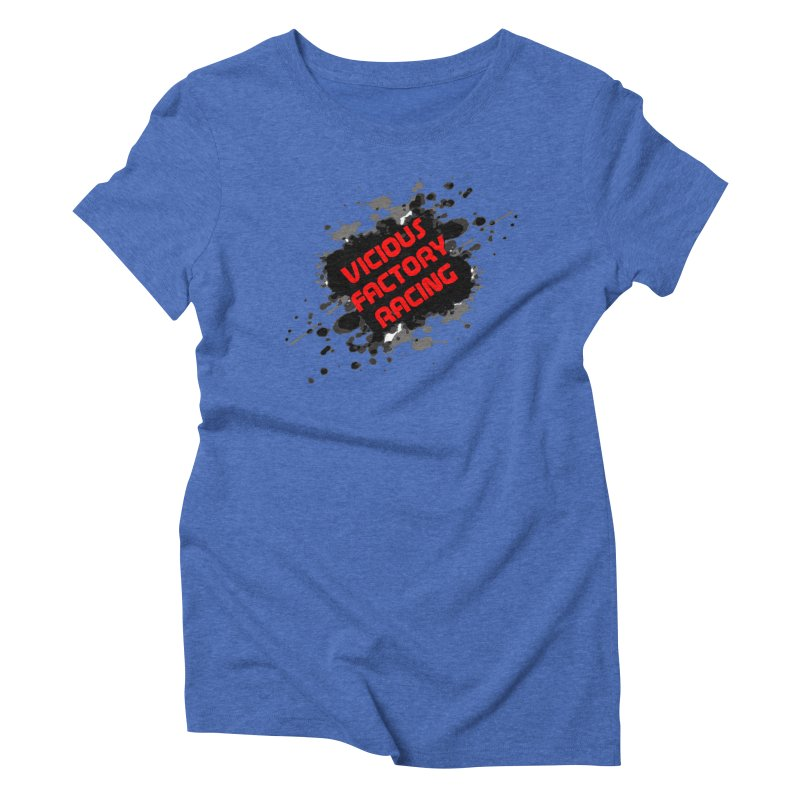 VICIOUS FACTORY RACING Women's Triblend T-Shirt by Vicious Factory