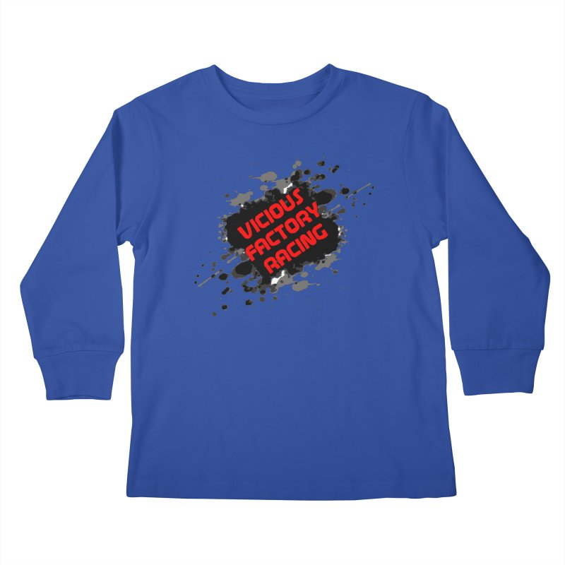 VICIOUS FACTORY RACING Kids Longsleeve T-Shirt by Vicious Factory