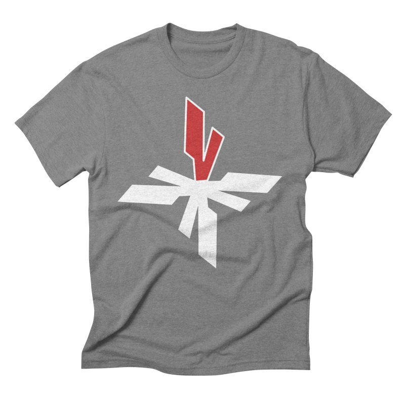 Vicious 4 V Cross Men's Triblend T-Shirt by Vicious Factory