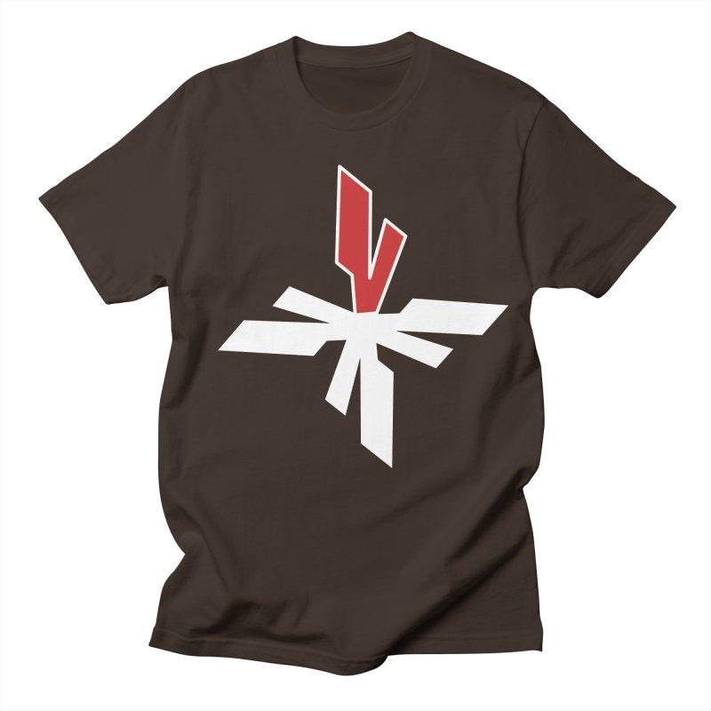 Vicious 4 V Cross Men's Regular T-Shirt by Vicious Factory